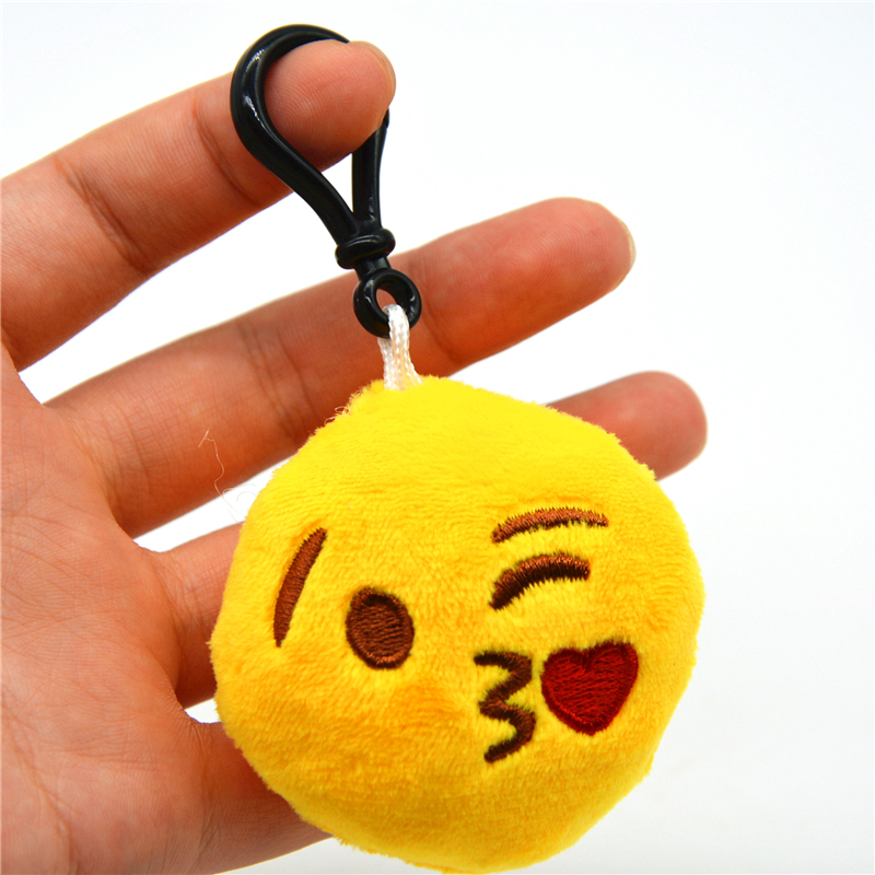 5PC Keychain Small Expression Multiple Emoticon Wink Key Chain Toys Gift Cute Creative Keychain For Women Bag Gift