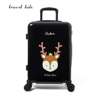 Travel tale 20/24 inches ABS+PC cartoon lovely Rolling Luggage customs lock Spinner brand Travel Suitcase