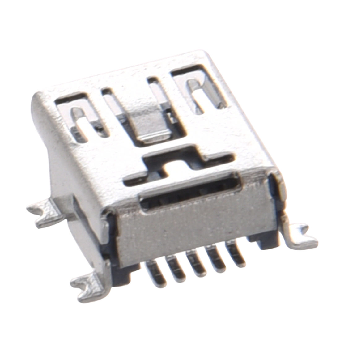 5 Pcs Mini USB Type B Female Port 5-Pin 180 Degree SMD SMT PCB Jack Socket 20 pcs mini usb type b female 5 pin smt smd pcb socket connector short body usb