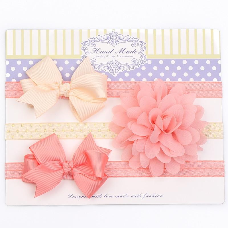 3pcs/set Chiffon Floral Baby Headband Girl Hair Accessories Infant Baby Hair Band Bowknot Headband For Baby Photography Birthday