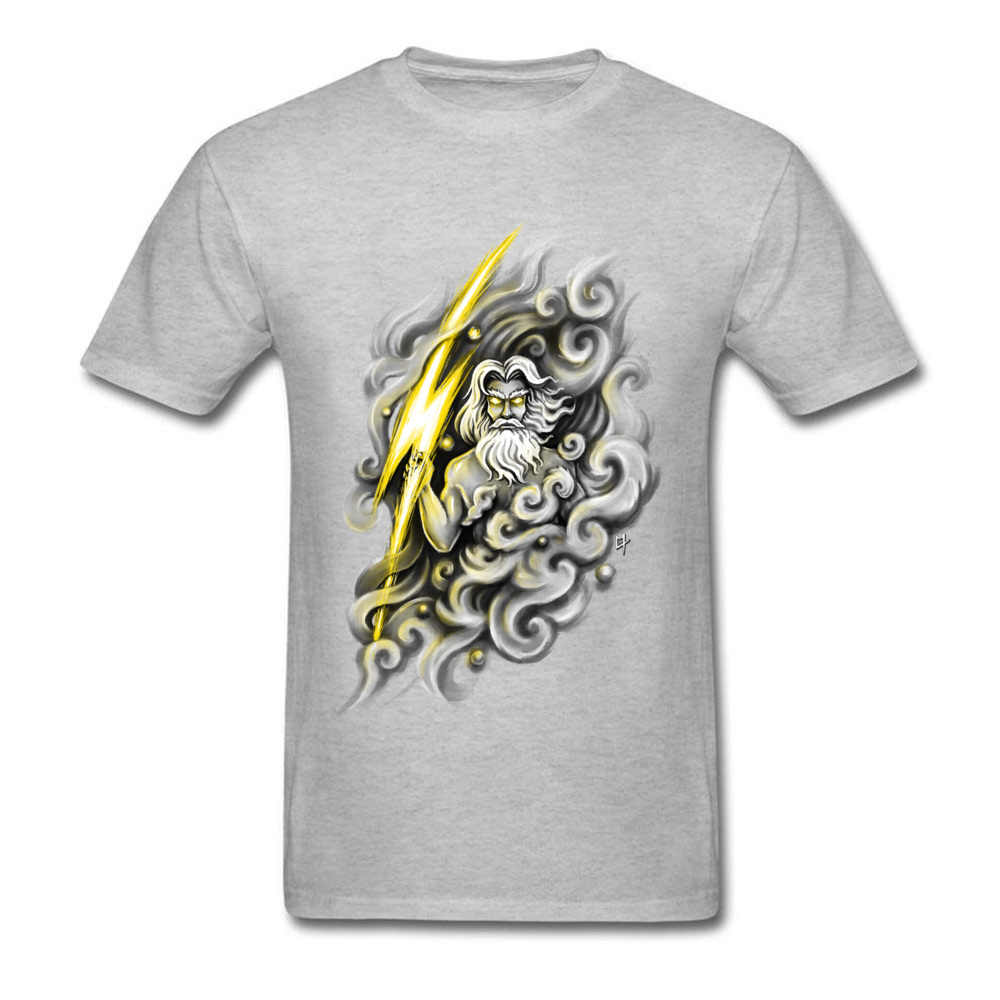 Zeus Ancient Greek Mythology Character Cool Design Men's Cotton T-shirts  Black Large Size Tops & Tees Father's Day