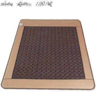 2018 New! Good tourmaline mattress Infrared heating mattress electric heated mattress with free sleeping eye cover 1.2X1.9M