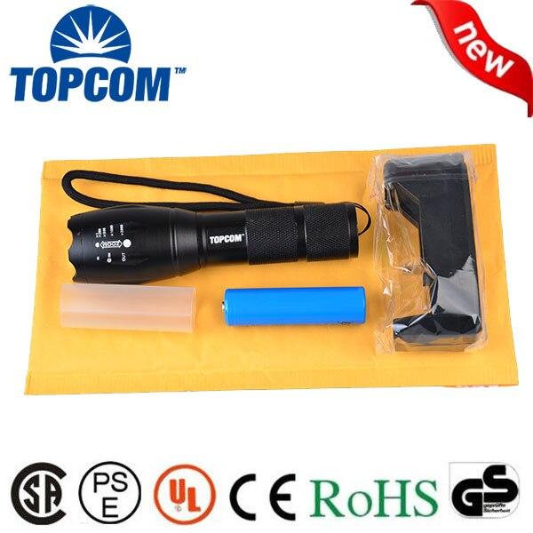[Бесплатная доставка] xm-l T6 тактический светодиодный фонарик Масштабируемые светодиодный фонарик факел 1*18650 фонарик и 18650 смены включены
