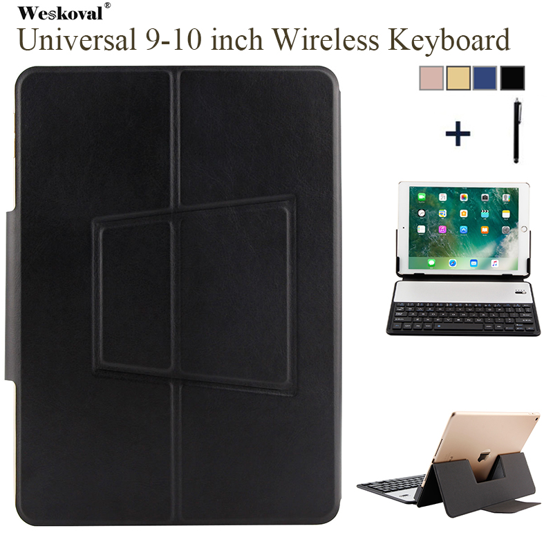 9'' 10''Keyboard Case For Microsoft ASUS Lenovo Huawei Tablet Universal Wireless Bluetooth Flip Leather Stand Cover+Stylus