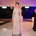 Elegante Abendkleider mangas compridas Lace vestidos Plus size mulheres vestidos formais mãe dos vestidos de noiva