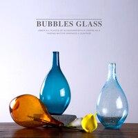 Nordic Decoration Home Transparent Glass Bubble Vase Creativity Vases Flowers Inserter Garden Home Decoration Accessories Modern