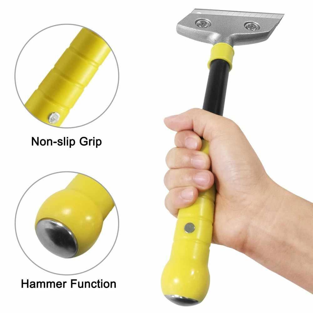 Limpieza pala resistente larga raspador mango de papel de corte cuchillo de espátula para pared azulejo de piso adhesivo Herramienta de extracción