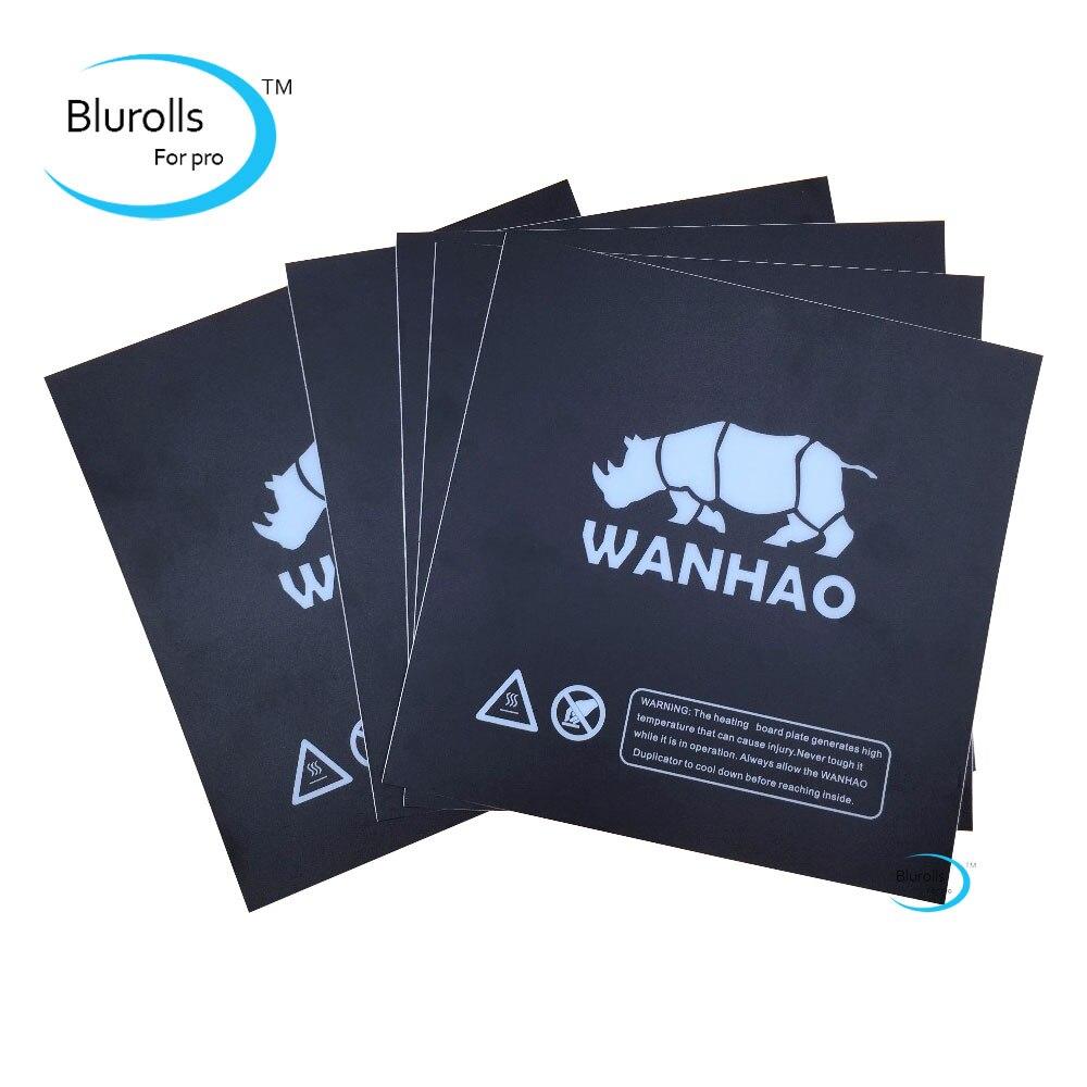 Wanhao i3 3D imprimante pièces de rechange impression lit chauffant autocollant similaires avec Buildtak Prusa i3 plaque chauffante plaque de construction ruban noir