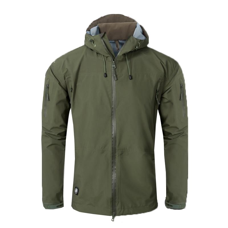 Tactical Men Hardshell Jacket Outdoor Camping Climbing Sports Hiking Military Combat Male Fishing Waterproof Coat Hunting Jacket
