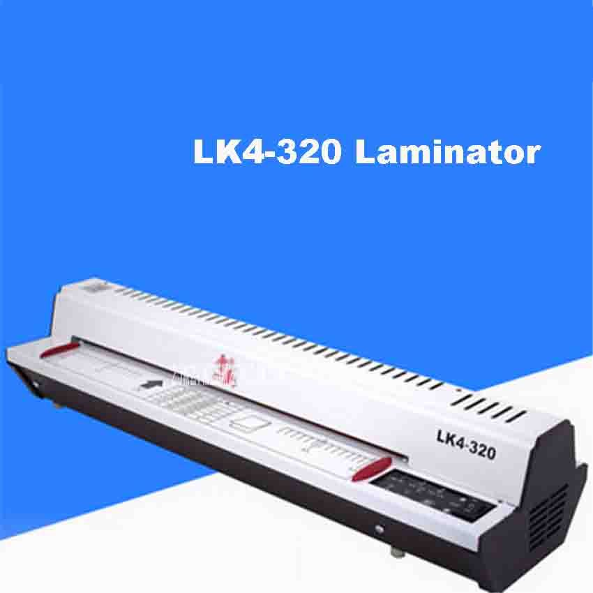 New LK4-320 320mm (A3) photo Laminating Machine, 4 Roller System Photo Laminator 220V/110V 300w Cold Roll Laminator 400mm / min free shipping brand new 14 350mm manual laminating machine photo vinyl protect rubber cold laminator