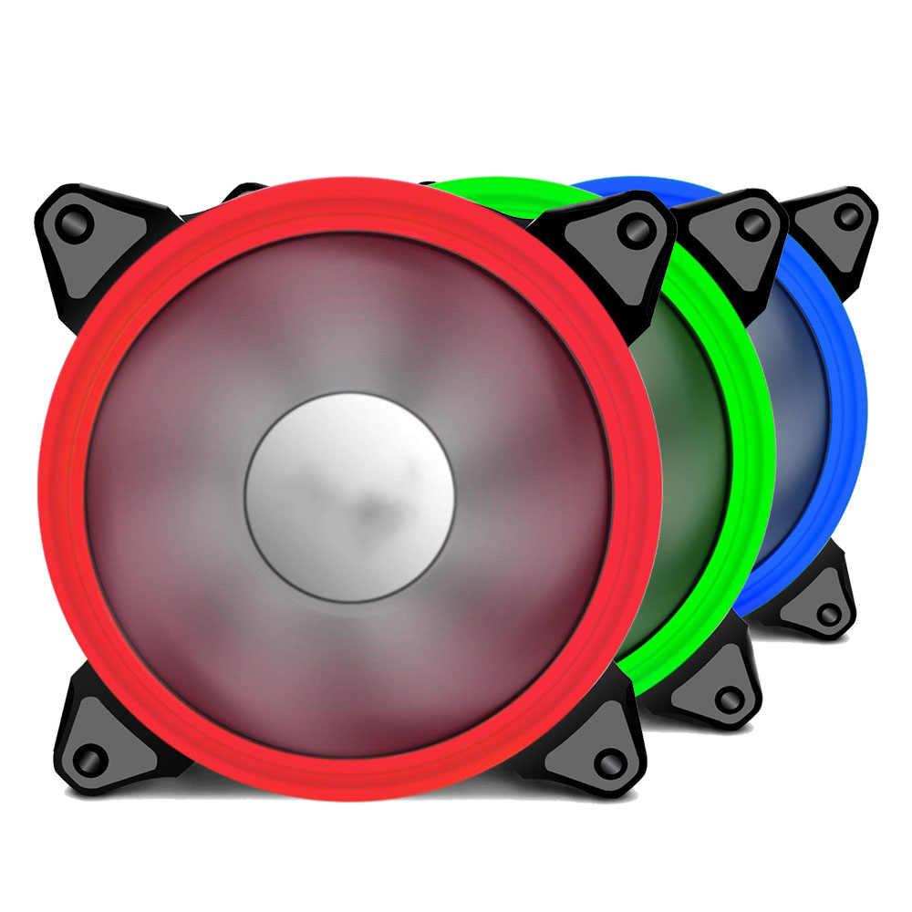 120 مللي متر LED مروحة مبرد مياه 120 مللي متر مروحة بارد وهج الأحمر الأزرق الأخضر الأبيض برودة مروحة ل وحدة المعالجة المركزية مبردات مشعات للكمبيوتر