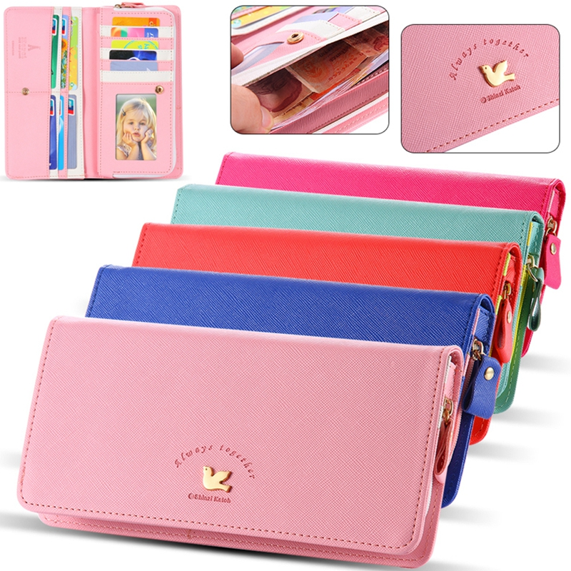 Universal Envelop Bird Wallet Mini Handbag Case For iPhone 4s 5 5s 5C SE 6 4.7/Plus 7Plus For LG G2 G3 G4 For Huawei P7 P8/Mate7
