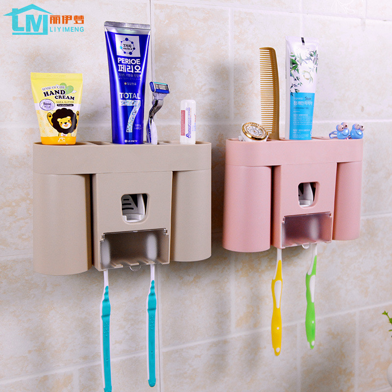 Creative toothbrush holder with cup automatic dispenser for Bathroom accessories electric toothbrush holder