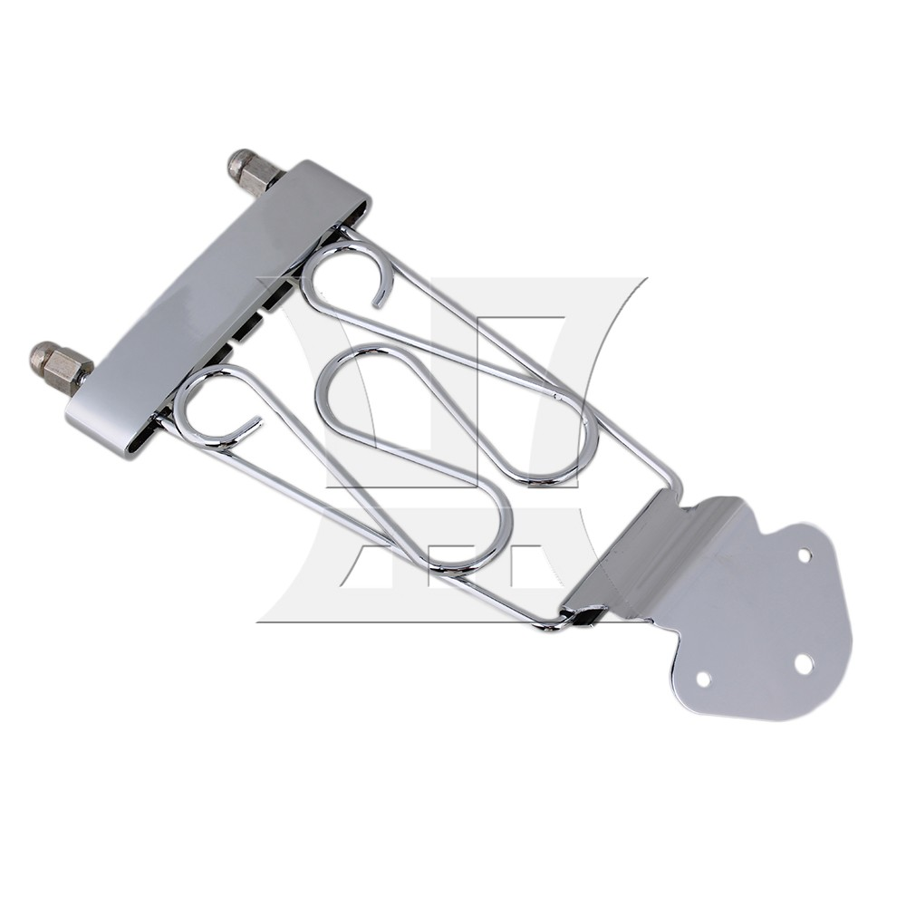 Yibuy Chrome Deluxe 6 String Guitar Trapeze Tailpiece Wired Frame