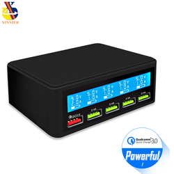 5 Port USB Multi Charger Station Quick Charge 3.0 Fast Charging Multiple USB Charger HUB LED Display QC 3.0 Universal Chargers