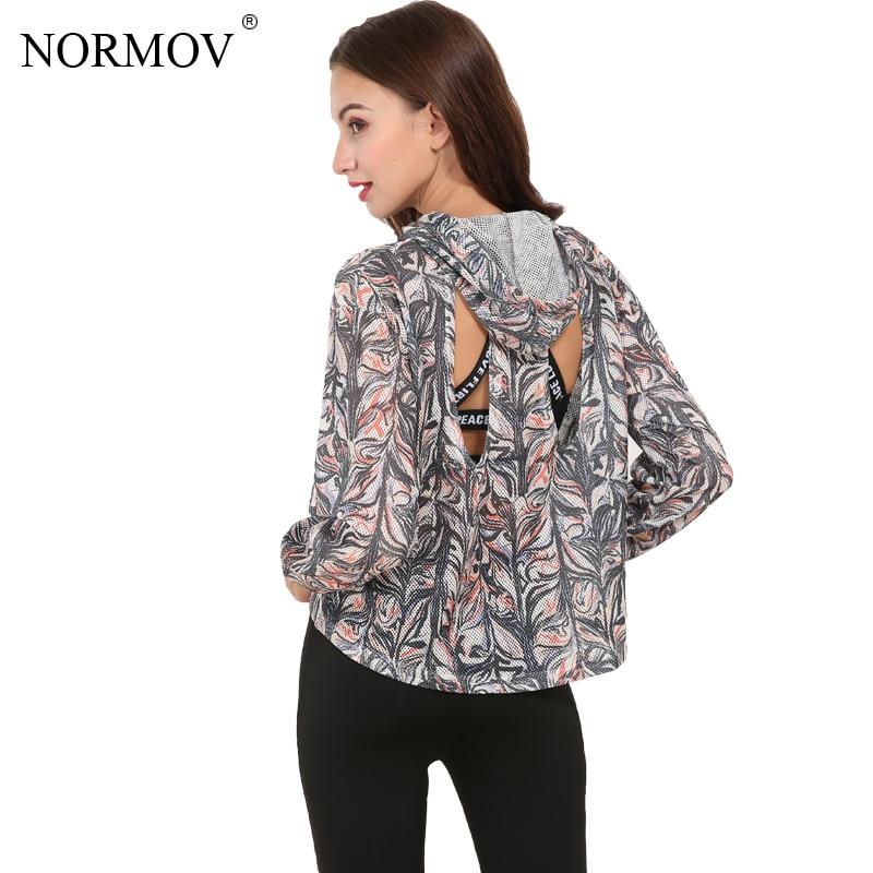 NORMOV S-L nyáron nagy méretű nyomtatott nyakkendők Női kapucnis - Női ruházat