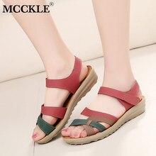 dbbc6fbd MCCKLE de moda sandalias de las mujeres Plus tamaño cuñas Zapatos de Color  mixto de verano Casual tacón plataforma damas bucle g.