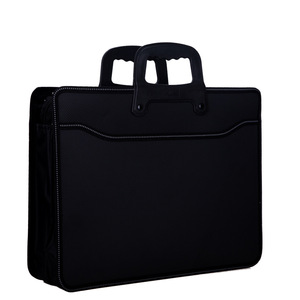 Image 2 - Business custom A4 zipper Men Briefcase Document Bags High capacity Portable File folder/a case for documents /filing