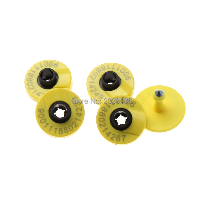 100pcs 134.2khz ISO11784 ISO11785 Rfid Ear Tag For Animal Cattle Sheep Pig Management