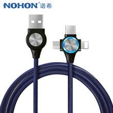 NOHON USB Kabel Für iPhone Xs Max XR X 3 in 1 Schnelle Lade Kabel Für Android Xiaomi Samsung Huawei handy Daten Sync Kabel