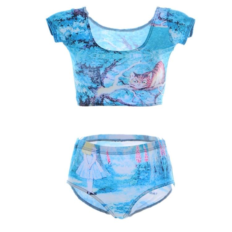 Two-piece Suits Tankinis Young Girls Sexy High Waist Swimwear 3d Printing Skeleton Women Swimsuit Free Shipping Dropship Uhren & Schmuck