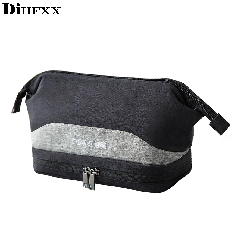 Travel Large Men Toiletry Bag Double Layer Travel Organizer Cosmetic Bag For Women Necessaries Make Up Case Wash Makeup Bag