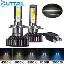 Uttril мини Размеры H4 H7 светодиодный 3000K 4300K 6500K 8000K 5000K H1 H8 H9 H11 9005 HB3 9006 HB4 автомобильный светильник 80W 10000LM Автомобильная Противо-Туманная лампа 12V