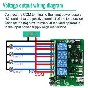 Image 5 - KTNNKG AC cc 7V 36V 4CH WiFi télécommande sans fil universel porte de garage récepteur et 2/4 pièces Ev1527 433MHz RF télécommandes