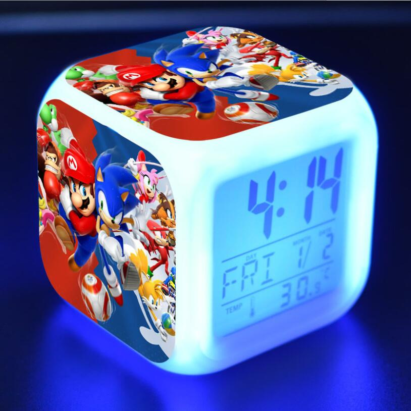 Sonic The Hedgehog LED Cube Alarm Clock 15