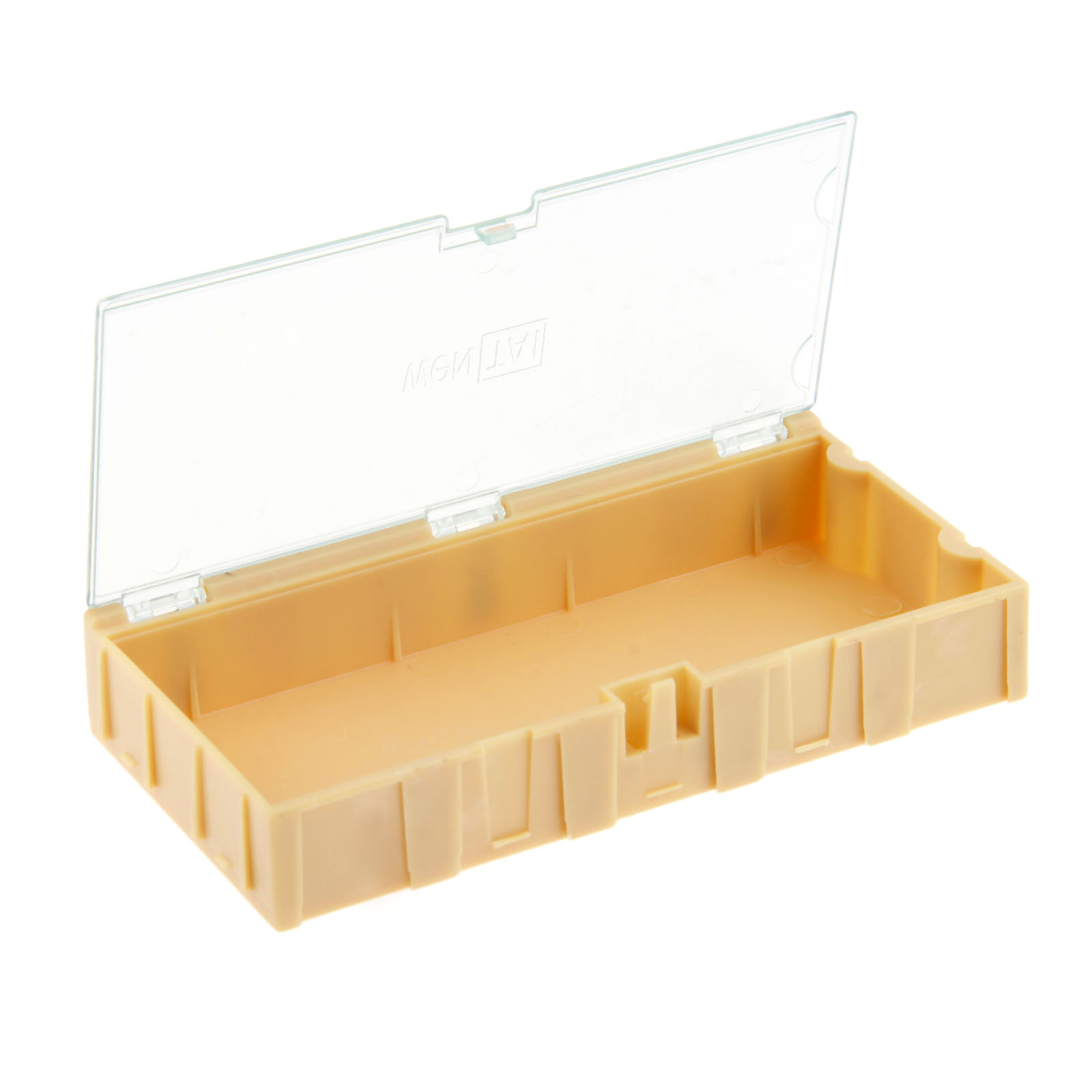 DRELD 1Pc 4# Yellow Component Storage Box Square IC Components Boxes SMT SMD Combination Boxes Tool Plastic Case 125*63*21mm