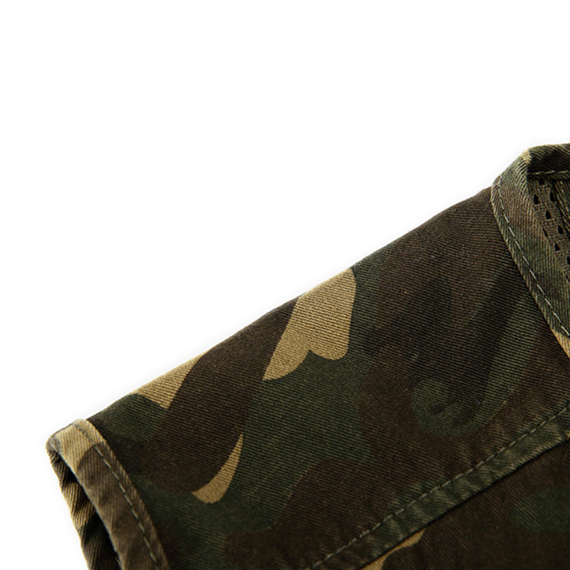 1pcs Men Camouflage Fishing Hunting Vest Cargo Outdoor Game Outwear Waistcoat Multi-Pocket Photography Recreational Fishing Vest