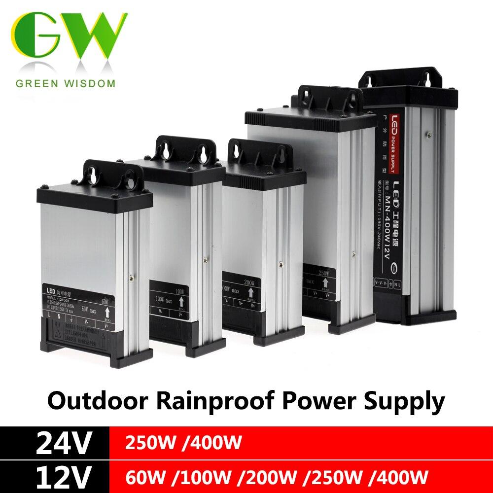 DC12V LED Outdoor Rainproof Power Supply 60W 100W 200W 250W 400W LED Driver Lighting Transformers dc12v 24v led outdoor rainproof power supply 60w 100w 200w 250w 400w led driver lighting transformers
