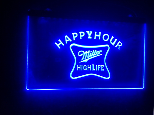 B53 miller high life happy hour bar led neon light sign vintage home b53 miller high life happy hour bar led neon light sign vintage home decor aloadofball Choice Image