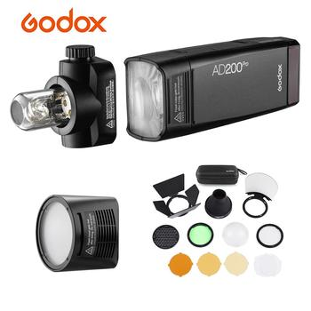 Godox AD200Pro Pocket Flash Wireless TTL Flash AK-R1 Pocket Flash Light Kit Wireless X System for Nikon Sony Olympus Canon EOS