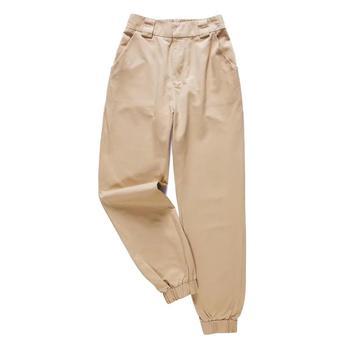 Женские брюки-джоггеры, зеленые брюки до щиколотки с высокой талией, брюки-кардо, 2019