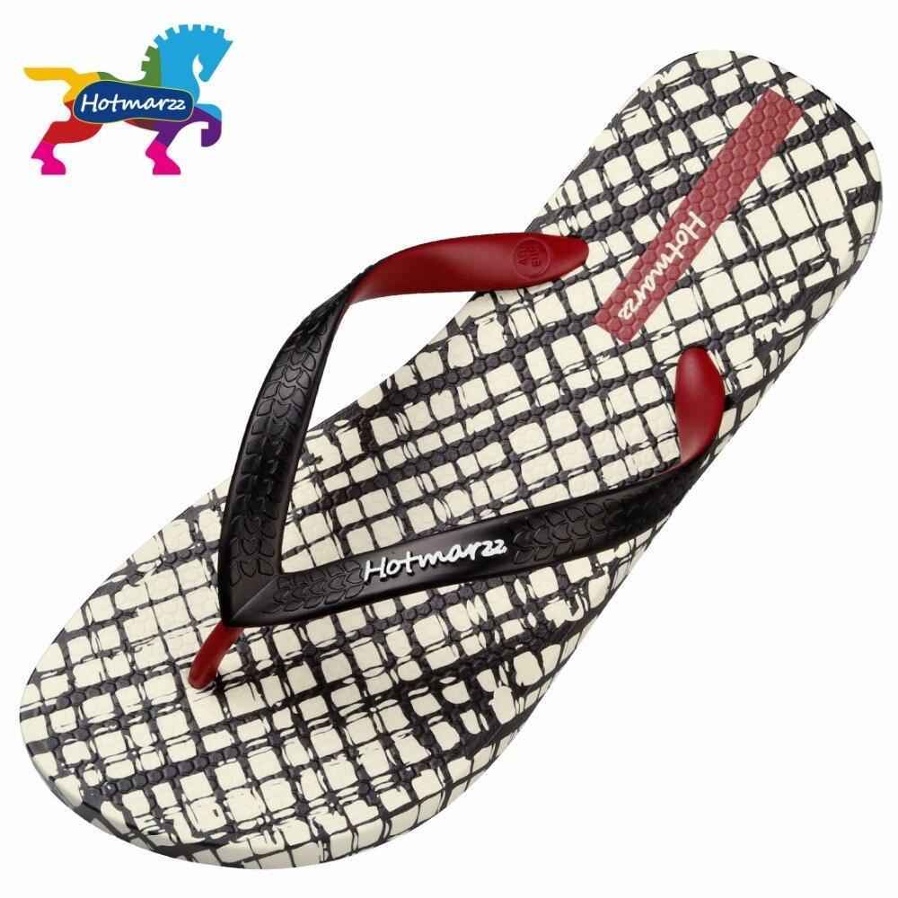 Image 2 - Hotmarzz Men Slippers Lattice Flip Flops Summer Beach Sandals Pool Shower Bathroom Slides Shoesshoes shoesshoes slideshoes shower -