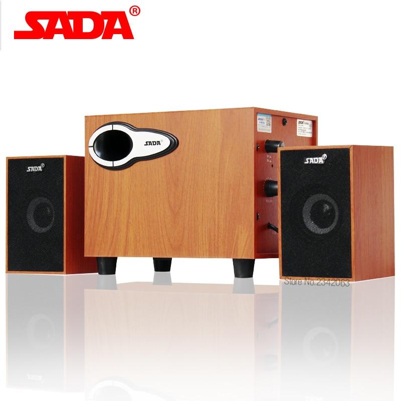 SADA New wooden Bluetooth combination speaker notebook speaker 2.1 channel computer speaker Subwoofer bass sound Free Shipping
