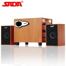 SADA Nouveau en bois Bluetooth combinaison haut-parleur portable haut-parleur 2.1 canaux ordinateur haut-parleur Subwoofer bass sound Livraison Gratuite