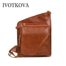 IVOTKOVA  Fashion men chest bag new high quality male cross body messenger bags casual mens slim purse bolsas shoulder packs