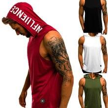 Мужская хлопковая толстовка без рукавов, топы для бодибилдинга и тренировок, майки для фитнеса, мужские куртки, Топ