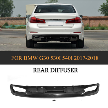 Rear Bumper Lip Diffuser Spoiler For BMW 5 Series G30 Standard Sedan 4 Door 530i 540i 2017 2018 with dual exhaust 1 outlet