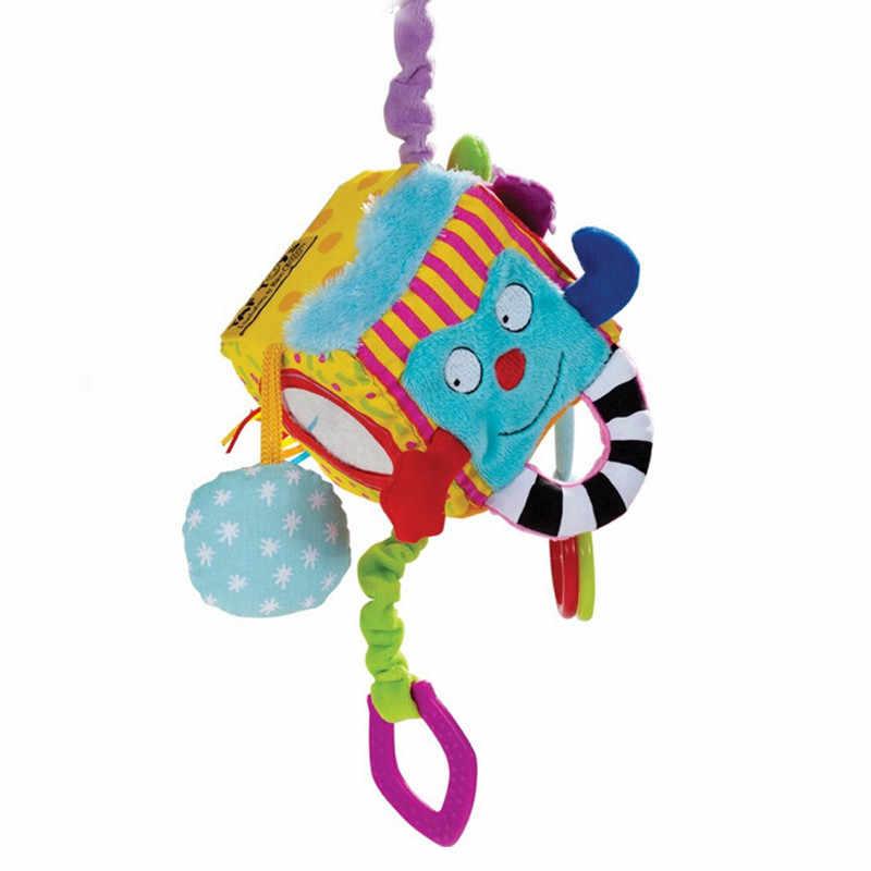 Детский мобильник детская игрушка плюшевая блок муфты кубик-погремушка раннего новорожденных обучающие игрушки для детей возраста от 0 до 12 месяцев SA886181
