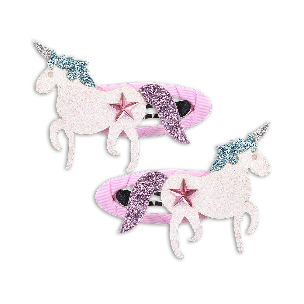 1 Para Kinder Unicorn Blume Stern Haarspange Mädchen Pailletten Cartoon Hairband Haarnadeln Set Für Kinder Unicorn Party Haar Zubehör