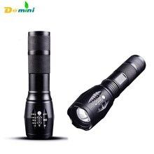 Cree Led Torch Lanterna Flashlights Lamp Waterproof Zoomable 3Mode Handheld Penlight Fenix 18650 Rechargeable battery Flashlight