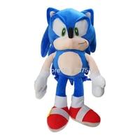 New Sonic the Hedgehog Plush Backpacks Soft School Bag Blue Stuffed Figure Doll Kids Boys Girls Toy Gift 18Inch