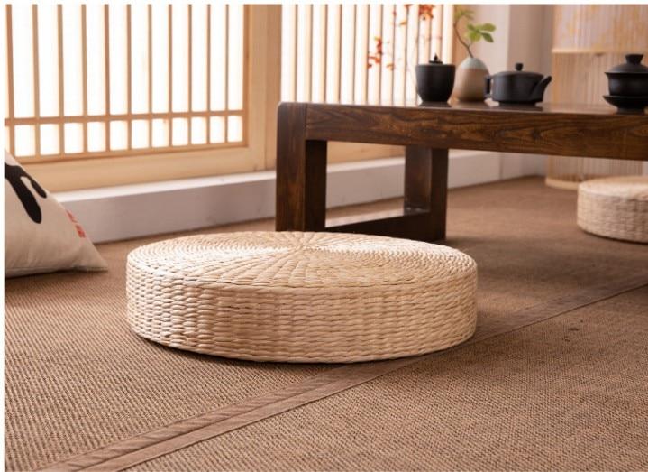 HTB1YaNIe8OD3KVjSZFFq6An9pXaS Rattan tea ceremony worship Buddha pad meditation thickening meditation pupa meditation sitting futon cushion tatami yoga mat