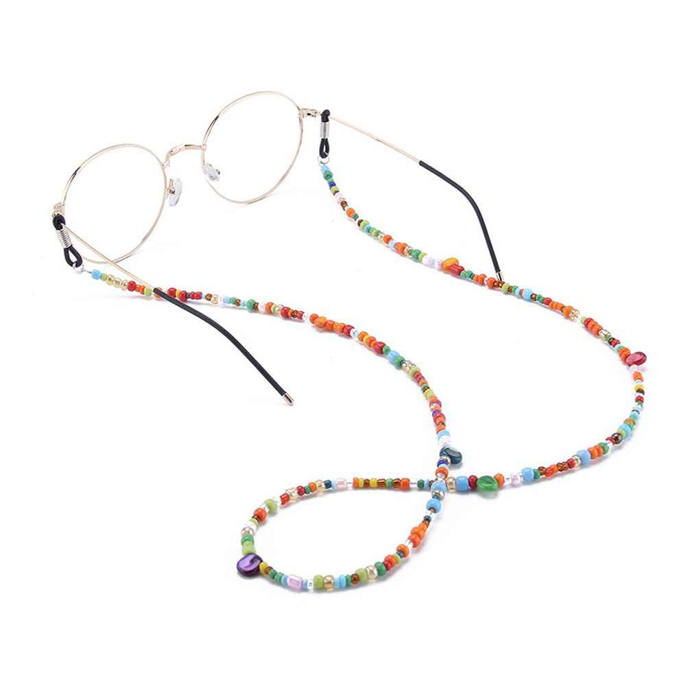 Fashion Womens Glass Beaded Eyeglass Chains Sunglasses Reading Glasses Chain Eyewears Cord Holder Neck Strap Rope