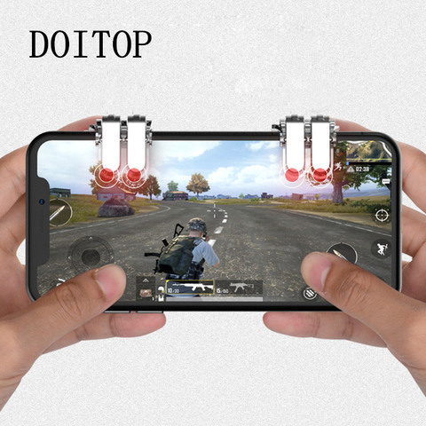 1Pair Pubg Controller Mobile Gamepad Free Fire Artifact For Pubg Trigger Six-finger linkage For Pubg Control Gaming Accessories Pakistan