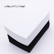 CMCYILING 40 Pcs/lot 10*15cm Black White Felt Fabric 1 MM Thickness Polyester Cloth For DIY Crafts Scrapbook Felt Sheets(China)
