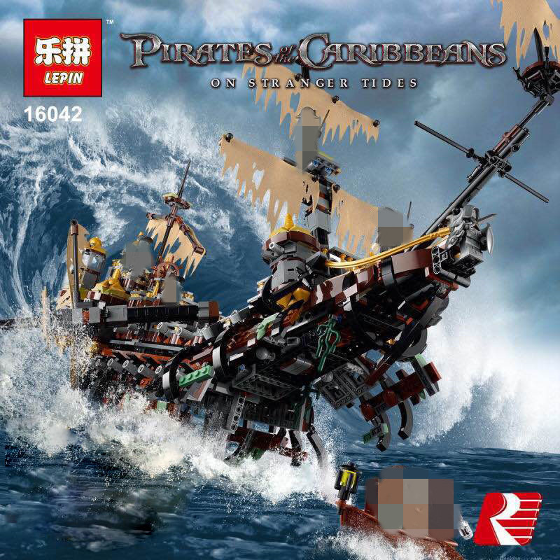 IN STOCK Lepin 16042 2344PCS Movie Series Pirate Ship The Slient Mary Set Children Educational Building Blocks Bricks Toy Model lepin 16042 2344pcs new pirate ship series building blocks the slient mary set children educational bricks toys model gift 71042